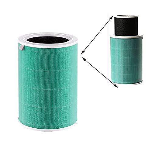 wuxinye Filtro de purificador de Aire Reemplazo de Filtro HEPA FIT para XIAOMI 1/2/2S / 3/3H Purifier de Filtro HEPA electrostático Anti pm2.5 formaldehído (Color : APF01 Green)