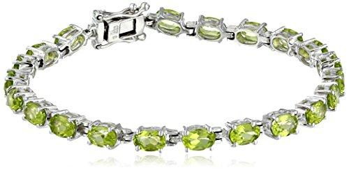Amazon Collection Damen - Sterling-Silber 925 Sterling-Silber Ovalschliff Péridot