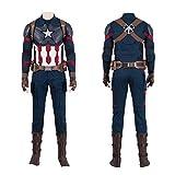 BLL Ropa de Cosplay del Capitán América, Traje de Batalla de Escamas de Pescado Avengers 4 del Mismo Estilo, 9 Juegos Men-XXL