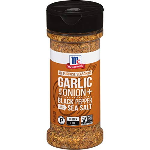 McCormick Garlic and Onion, Black Pepper and Sea Salt All Purpose Seasoning, 4.25 oz