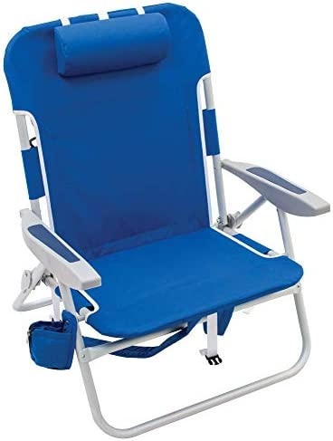 """RIO beach Big Boy 4-Position 13"""" High Seat Backpack Beach or Camping  Folding Chair : Home & Kitchen - Amazon.com"""