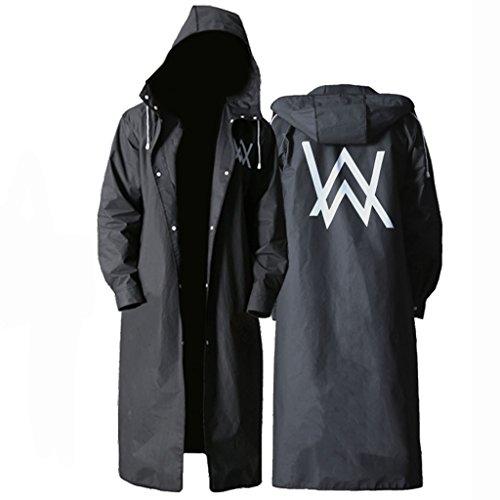 LL Regenmantel für Erwachsene im Freien, Regenmantel Creative Fashion Black Outdoor Herren für Lange Zeit Verdickung Eva Regenmantel Poncho (Farbe : A, größe : L)