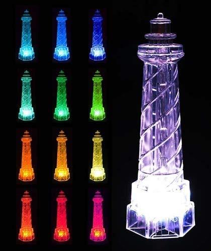 RELIGHTABLE Solar Powered Garden Stake LED Light, Set of 2 (Lighthouse)