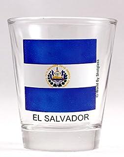 El Salvador Flag Shot Glass