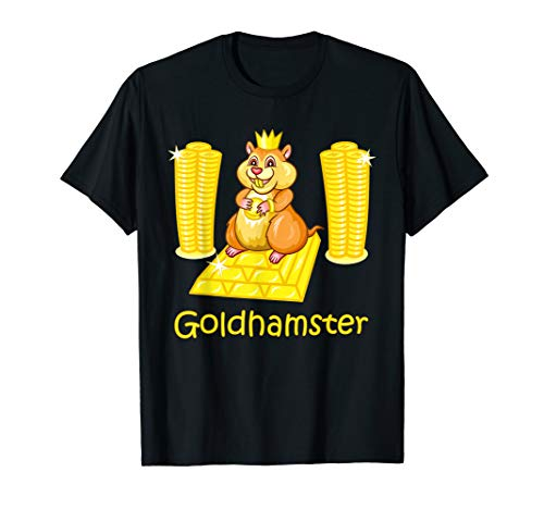 Goldhamster, Hamster, Gold, reich, Edelmetall, Geld T-Shirt