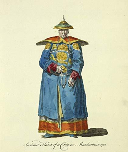 Thomas Jefferys Giclee Auf Leinwand drucken-Berühmte Gemälde Kunst Poster-Reproduktion Wand Dekoration(Sommer-Gewohnheit oder chinesische Mandarine in der chinesischen Hauptmandarine) #XFB