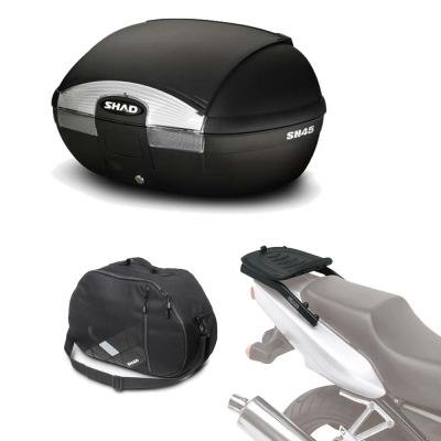 Sh45bohe105 - Kit fijacion y Maleta baul Trasero + Bolsa Interna de Regalo sh45 Compatible con...