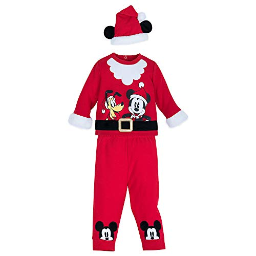 Disney Mickey Mouse and Pluto Santa Suit Set for Baby Size 3-6 MO Multi