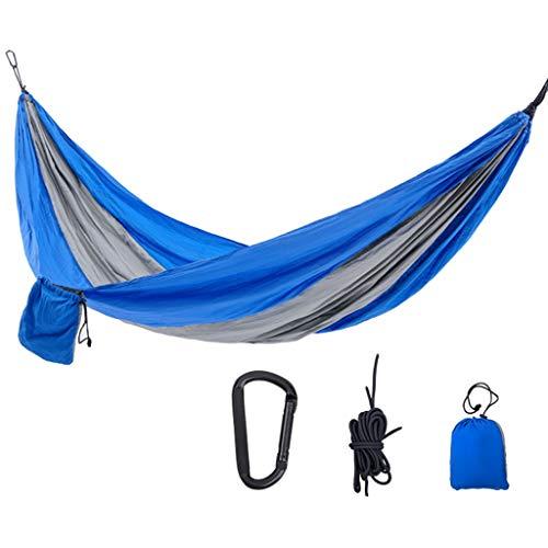 Hamaca para Acampar Hamaca de swing de dos colores individual al aire libre Hamaca de paracaídas de paracaídas Camping Hamaca interior y al aire libre silla colgante Hamaca Columpio ( Color : C )