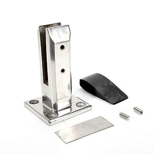 304 Edelstahl Glasklammer, Pool-Clip, kein Bohren von Befestigungsclips