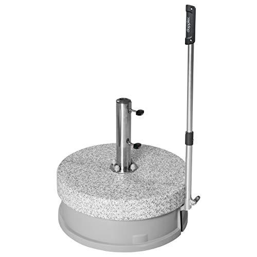 Doppler Rollsockel Easy Move ca. 70 kg - Granitsockel - Für Sonnenschirme bis 350 cm - Mit 4 Rollen und Zugstange - Für eine einfache Handhabung