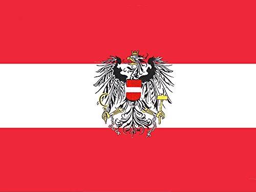 Piersando Fahne 150cm x 90 cm Länderflagge Fanartikel Land Flagge mit Metallösen Österreich mit Adler