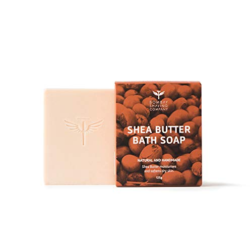 Bombay Shaving Company Shea Butter Moisturizing Bath Soap with Extra Virgin Coconut Oil and honey for dry skin, 125g