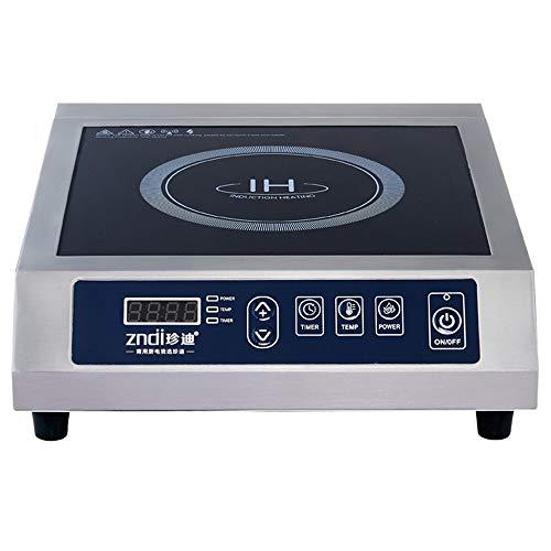 3500 W portátil Induction Cooker Induction Cocina eléctrica de inducción individual placa de cocción de cristal negro + acero inoxidable, 13 velocidades de ajuste