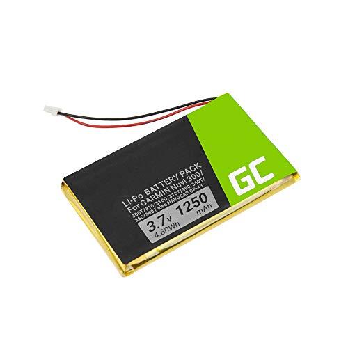 Green Cell ® IA2B309C4B32 Batteria per navigazione GPS Garmin Nuvi 300 300T 310 310D 310T 350 350T 360 360T 370 Navgear Streetmate GP-43 (Li-Polymer Celle 1250mAh 3.7V)