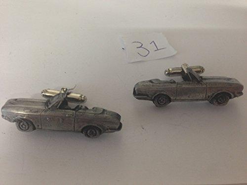 Bond Equipe 2 L Convertible 3D Boutons de manchette Boutons de manchette voiture classique effet étain ref31