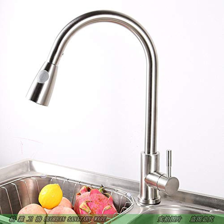 JONTON Taps Faucet Faucet 304 Stainless Steel Faucet Pull-Type Kitchen Faucet Cold