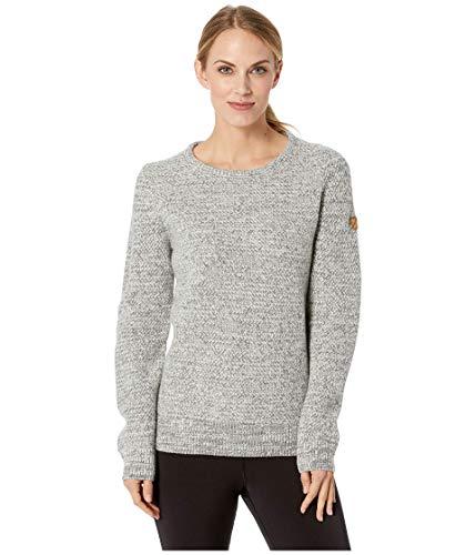 FJÄLLRÄVEN Övik Structure Sweater W Sweat-Shirt Femme Egg Shell-Grey FR: S (Taille Fabricant: S)