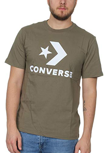 Converse Hombre Camiseta Chevron Olive, Herren:M