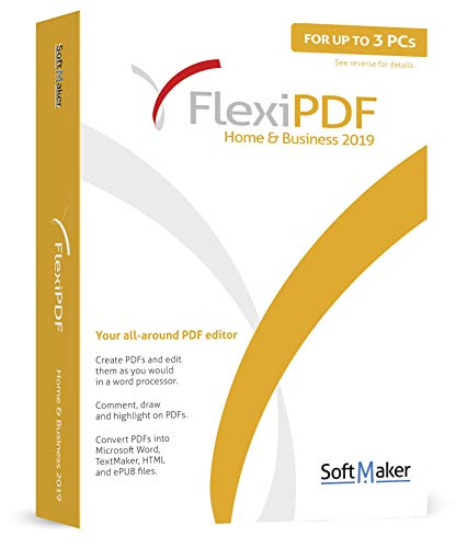 FlexiPDF Home & Business - the ultimate PDF editor software by SoftMaker - 3 USER for your Windows 10, 8.1, 7 PC