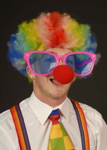 Magic Box Helle Circus Clown Jumbo Sonnenbrillen