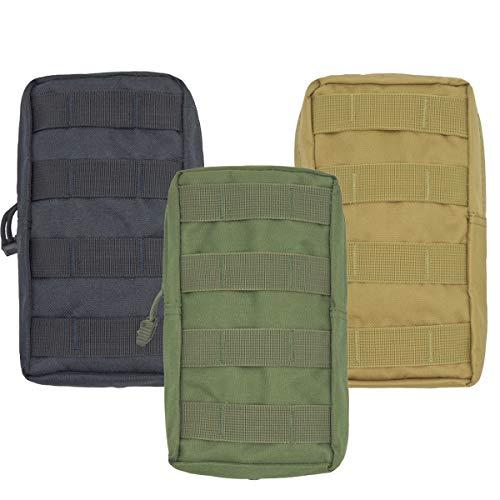Osuter 3 Pack Bolsa Médica Táctica Bolsa Impermeable Táctica Bolsas Paño de Oxford Riñonera Táctica para Deportes Senderismo Camping