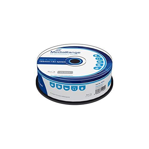 MediaRange MR514 Disco BLU-Ray Lectura/Escritura (BD) BD-R 25 GB 25 Pieza(s) - BD-RE vírgenes (BD-R, 25 GB, 120 mm, 6X, Caja para Pastel, 25 Pieza(s))
