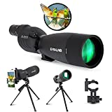 ESSLNB Spotting Scope with Tripod and Phone Adapter BAK4 25-75X70 FMC Target Spotting Scope for Hunting Straight Spotting Scope for Target Shooting Bird Watching