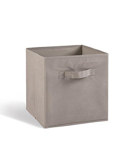 PEGANE Lot de 4 tiroirs de Rangement en Tissu Gris, 27x27x28cm
