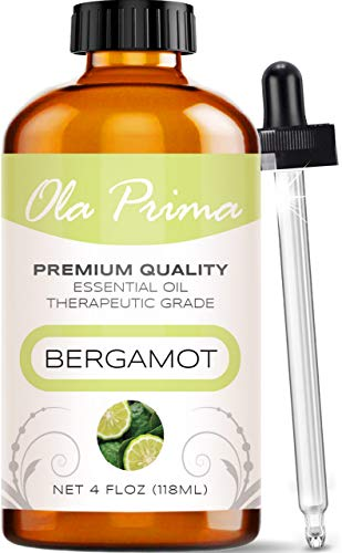 Ola Prima 4oz - Premium Quality Bergamot Essential Oil (4 Ounce Bottle) Therapeutic Grade Bergamot...