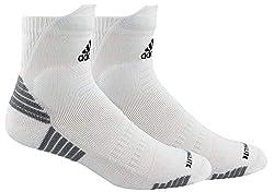 powerful Adidas Unisex-US Alphaskin padded high quarter socks (1 pair), white / black / light onyx, …