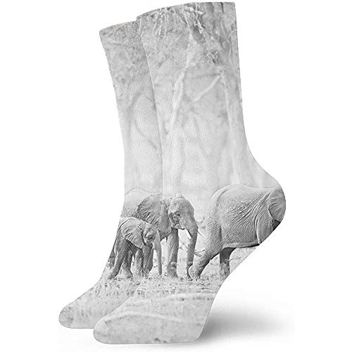 Be-ryl Unisex 3D Natur Tiere Sebastiao Salgado Fotograf Socken Crazy Tube Lustige Neuheit Polyesterfaser Socken