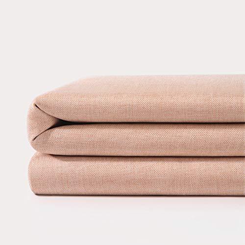 JIUJ Duschvorhang, schimmelresistent, 180 x 200 cm, maschinenwaschbar, 100 prozent Baumwolle, Leinen, antistatisch (Pink)