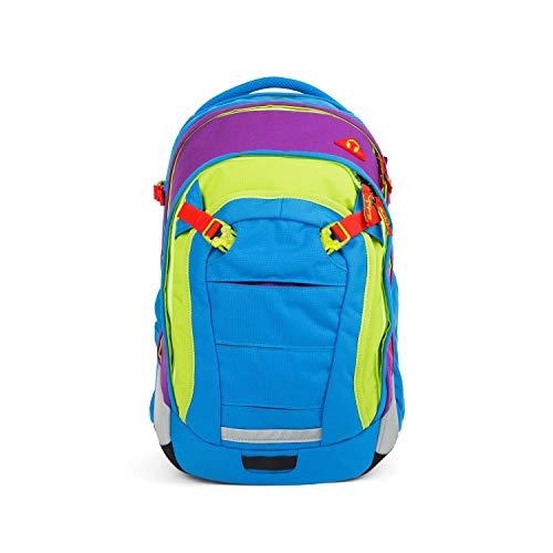 satch Match, Flash Jumper ergonomischer Schulrucksack, erweiterbar auf 35 Liter, extra Fronttasche