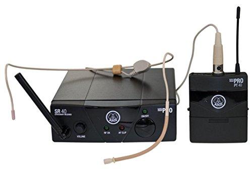 AKG Headset Funkmicrófono-Set WMS40 Mini Sport Set ISM 2 Übertragungsart:Funk