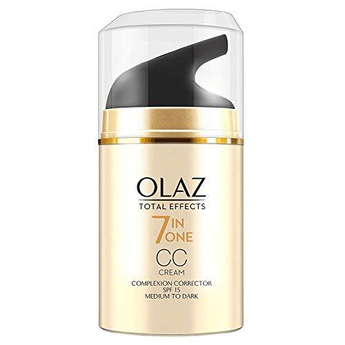 3 x Olaz Total Effects Anti Aging 7in1 CC Cream Mittel bis Dunkel je 50ml LSF 15