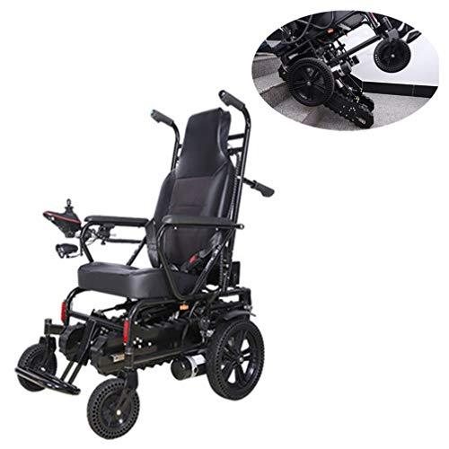 Silla De Ruedas Eléctrica Plegable, Multifunción Tránsito Viajes Presidente Resistencia 15-20Km Orugas Diseño Fácil De Escalar para Los Ancianos Discapacitados