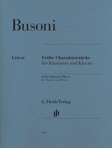 Frühe Charakterstücke für Klarinette und Klavier (Erstausgabe)
