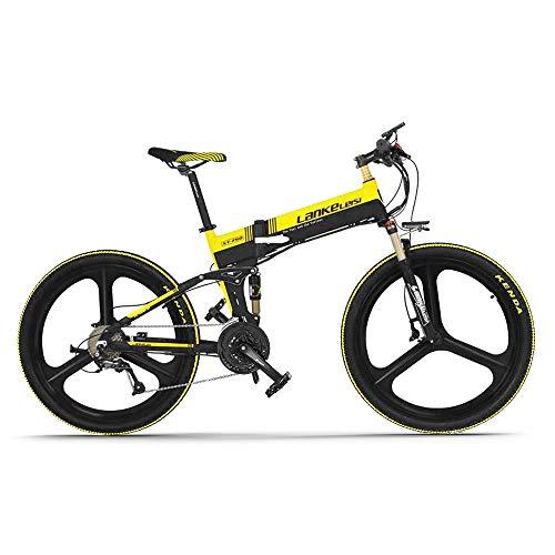 Lixada 400W 26 Pulgadas Bicicleta Eléctrica de Asistencia Eléctrica Plegable Deportes E-Bike 10.4AH Batería Alcance de 100 km