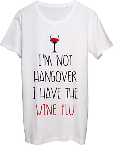 Camiseta para hombre con diseño de copa de vino con texto en inglés 'I'm Not Hangover I Have The Wine Grip'
