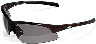 Maxx HD Domain TAC Polarized Sunglasses Golf Smoke Lens MXDOMAIN (Black-Bronze)