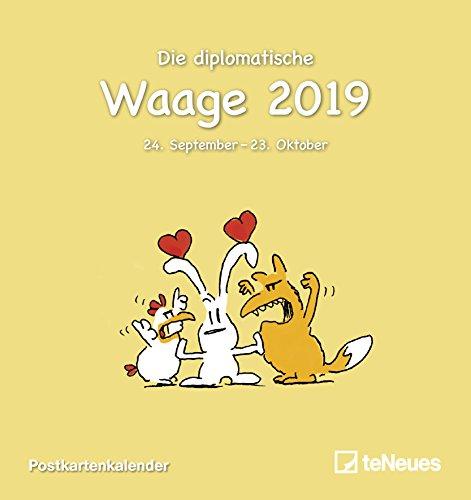 Sternzeichen Waage 2019: Postkartenkalender Sternzeichen