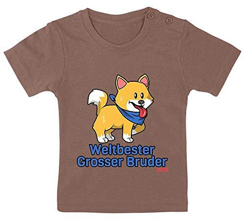 """Hariz - Camiseta para bebé, diseño con texto """"Weltbeste Grosser Hermano más grande del mundo"""", color marrón"""