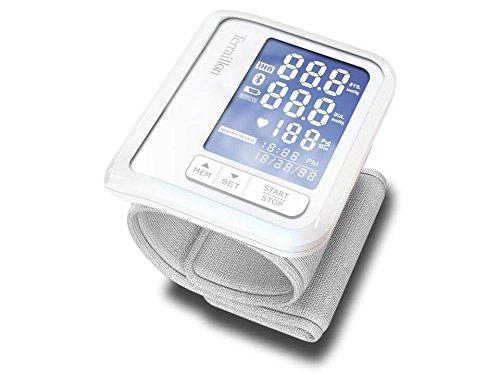 Terraillon Handgelenk-Blutdruckmessgerät, Mit Smartphone/Tablet verbindbar, Zur Berechnung des Blutdrucks und der Herzfrequenz, 1 Benutzer, 60 Speicherplätze, Bluetooth Smart, Tensio, Weiß