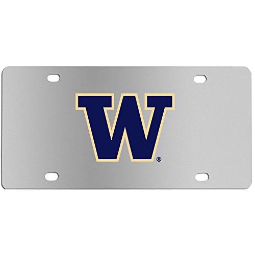 Siskiyou Sports Washington Huskies Steel License Plate, Standard