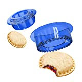 Yumkt Sandwich Cutter Sealer Cookie Bread Pancake Maker Uncrustable Mold Press for Kids Luchable Box Bentgo Accessories Sandwich Decruster Sandwich for Gifts,Blue