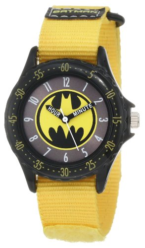 Batman Kids' BAT5040 Batman Time Teacher Watch with Yellow Canvas Band