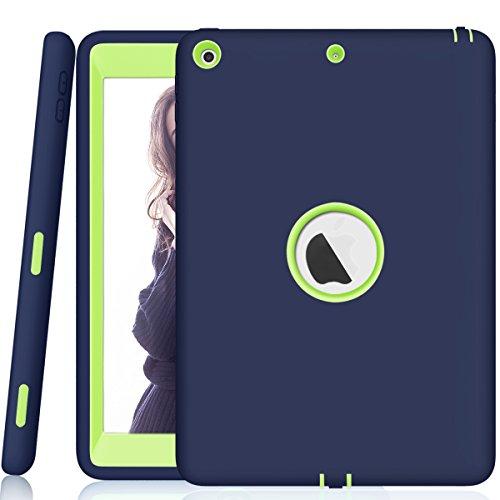 Neue iPad 24,6cm 20182017Hülle, Daker Heavy Duty Full Body Robuste Schutzhülle, stoßfest Haltbar Hybrid Drei Schicht PC + Silikon Wake Sleep für Neue iPad 9,72017A1822A1823A1893A1954, Navy