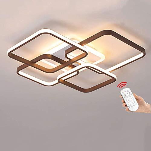 66W LED Deckenleuchte Dimmbar Modern Deckenlampe Metall und Acryl Rechteck Deckenlampe Creative Design Deckenleuchte LED für Wohnzimmer Schlafzimmer Decke Lampe (60 * 60 * 8.5cm) [Energieklasse A++]