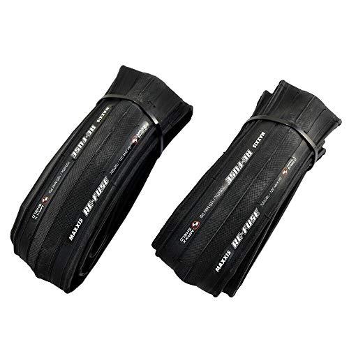 MAXXIS Re-Fuse Tire Road Racing Clincher Folding Tire 700x25C, Black, 2 Tire, MX2005